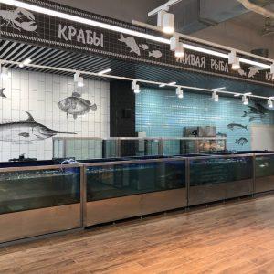 рыбный отдел в долгоозерном