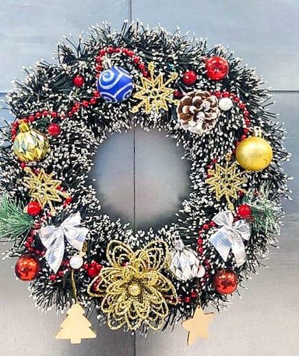 МК по созданию венков на Новый год и Рождество